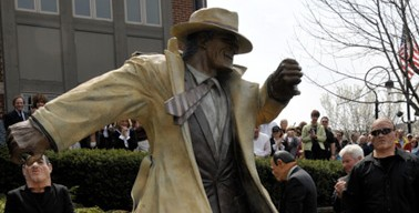 River's Edge Foundry Creates Larger-than-life Dick Tracy For Naperville, IL Famed Riverwalk